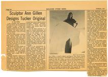 1977, Ann Gillen with piece featured in Tucker Awards