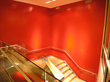 Before installation of the stairwell RELIEF at CUNY 2007