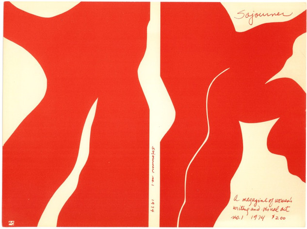 SOJOURNER 1974, Book Cover, commission from The Women's Interart Center, NYC