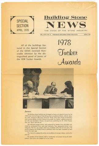 TUCKER AWARD 1977-81 For Architects using stone