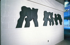 WINTER OLYMPICScommission1980, Lake Placid, NY, winner of NEA Competition, view of 3 from 5 WALLS of Vermont slate RELIEFSAnn Gillen/Artists Rights Society(ARS)NY