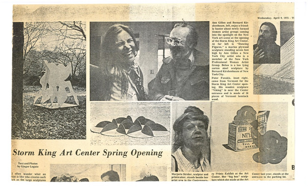 The Cortland Press interview 1973 about Exhibition at STORM KING ART CENTER, NY 1973-76, local newspaper 1973
