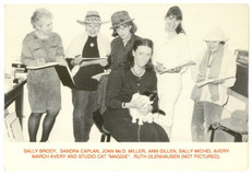 1989 Artists Drawing Artists including Ag, March Avery and Sally Michel Avery