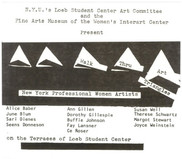 """Card for Outdoor Exhibition at NYU part of """"Year of the Woman"""" activities 1975"""