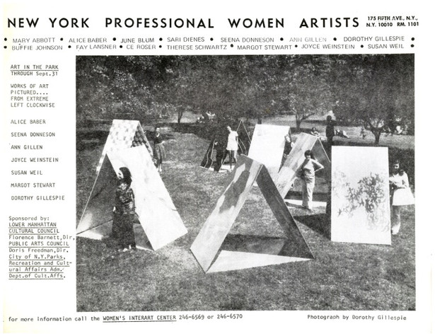"WALK THRU Exhibition in Battery Park, NYC, ""Year of the Woman 1975"""