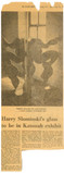 Review in the CORTLAND REGISTER, NY, Katonah Group Exhibition 1974