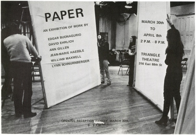 Announcement card for PAPER Solo Exhibition 1972, NYC