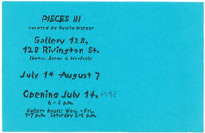 Front of announcement card 1998