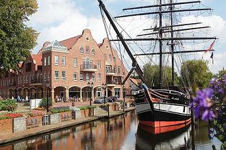 Aussenansicht Arkadenhaus Papenburg. Dav