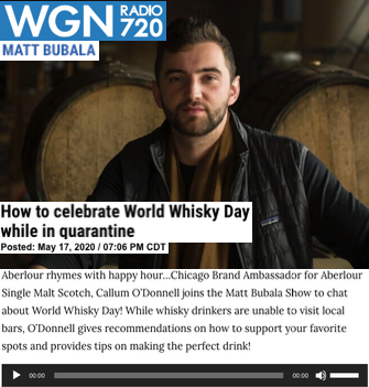 Aberlour on WGN Radio