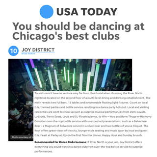 Joy District in USA Today