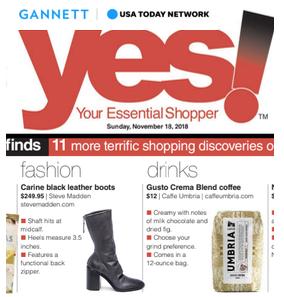 Caffe Umbria in Gannett Newspapers (print)