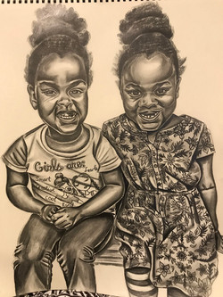 Angeleta Thornton (Baltimore, MD), Twins on a Summer Day, 2019