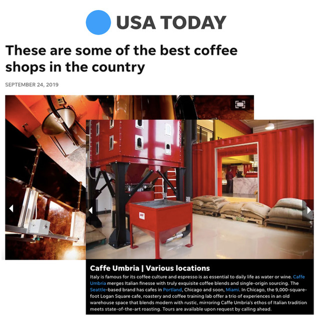 Caffe Umbria in USA Today