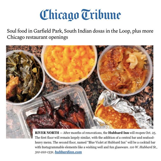 Hubbard Inn in Chicago Tribune