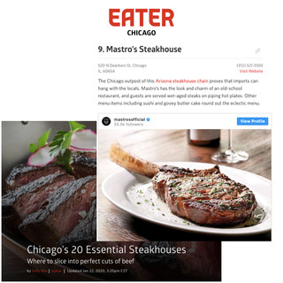Mastro's The Steakhouse in Eater Chicago