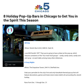 8 Crazy Nights and Elf'd Up in NBC Chicago