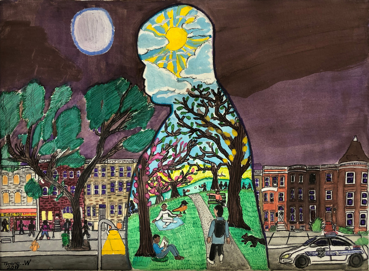 Tyrone Weedon (Baltimore, MD), Finding Peace on North Ave, 2019