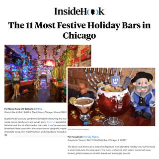 8 Crazy Nights and Elf'd Up in InsideHook