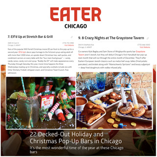 8 Crazy Nights and Elf'd Up in Eater Chicago