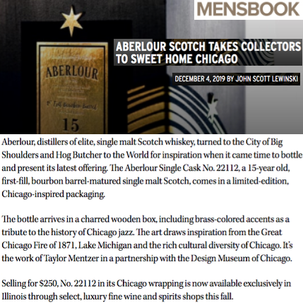 Aberlour in Modern Luxury's Mensbook