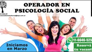 Abierta la  Inscripción 2021  - Carrera Operador en Psicología Social