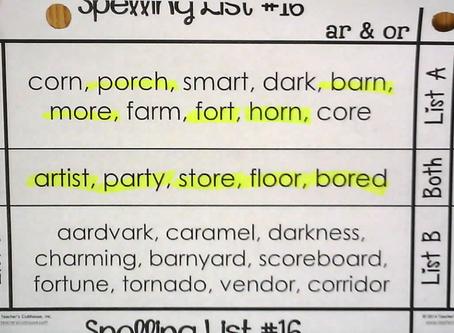 Spelling List #16