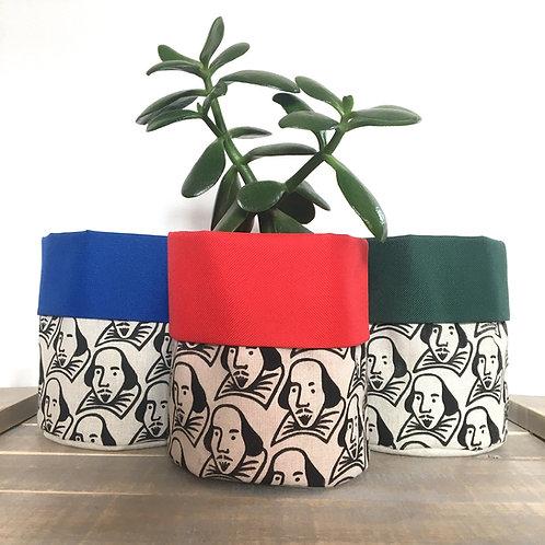 Shakespeare Fabric Pot