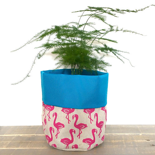 Flamingo Fabric Pot
