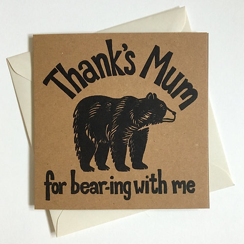Thanks Mum Bear Card