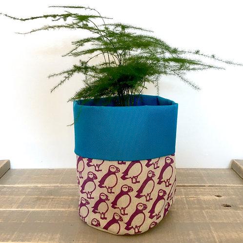 Puffin Fabric Pot