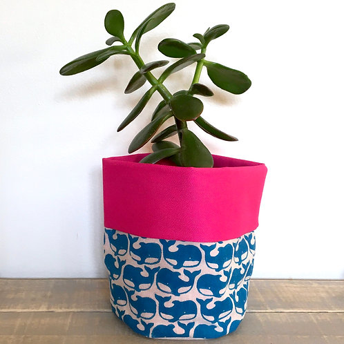 Whale Fabric Pot