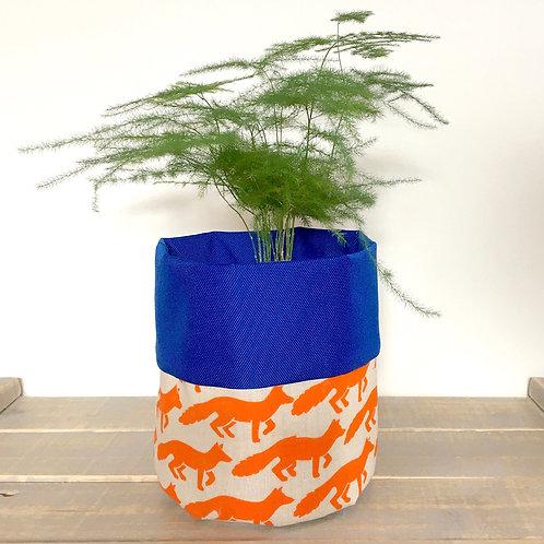 Fox Fabric Pot
