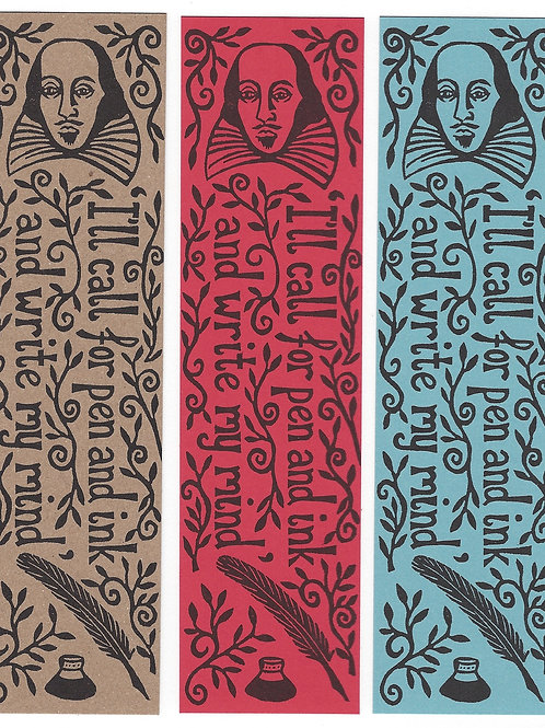 Pack of 3 Shakespeare Bookmarks