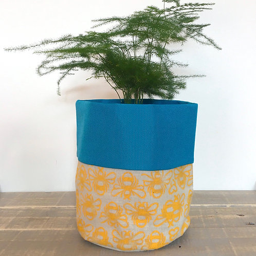 Bee Fabric Pot