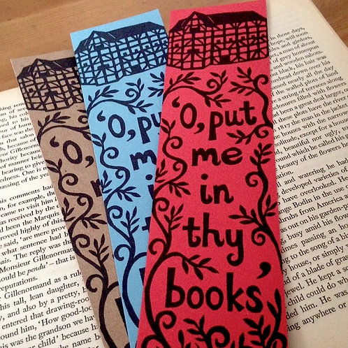Pack of 3 Globe Theatre Bookmarks