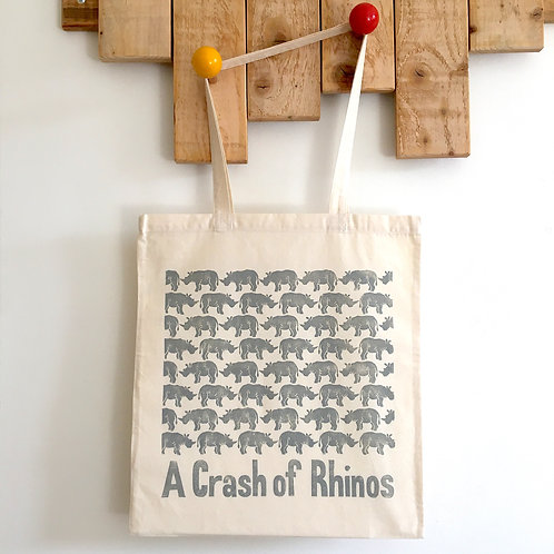 A Crash of Rhinos Tote Bag