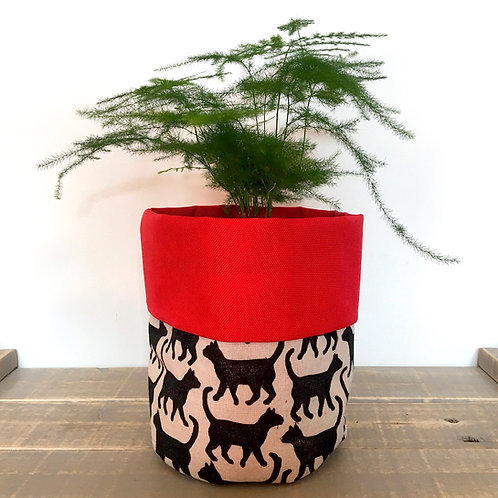 Cat Fabric Pot