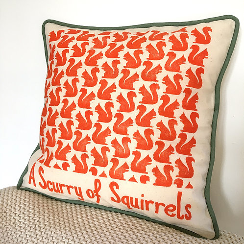 A Scurry of Squirrels Cushion Cover