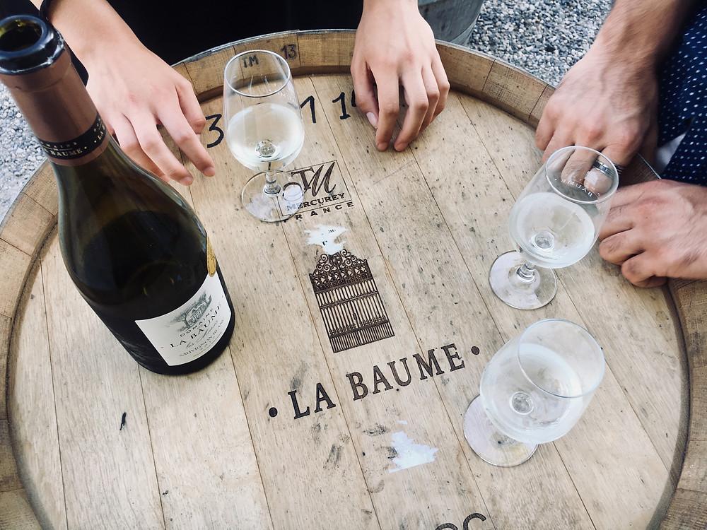 Wine tasting of Domaine de la Baume's Sauvignon Blanc