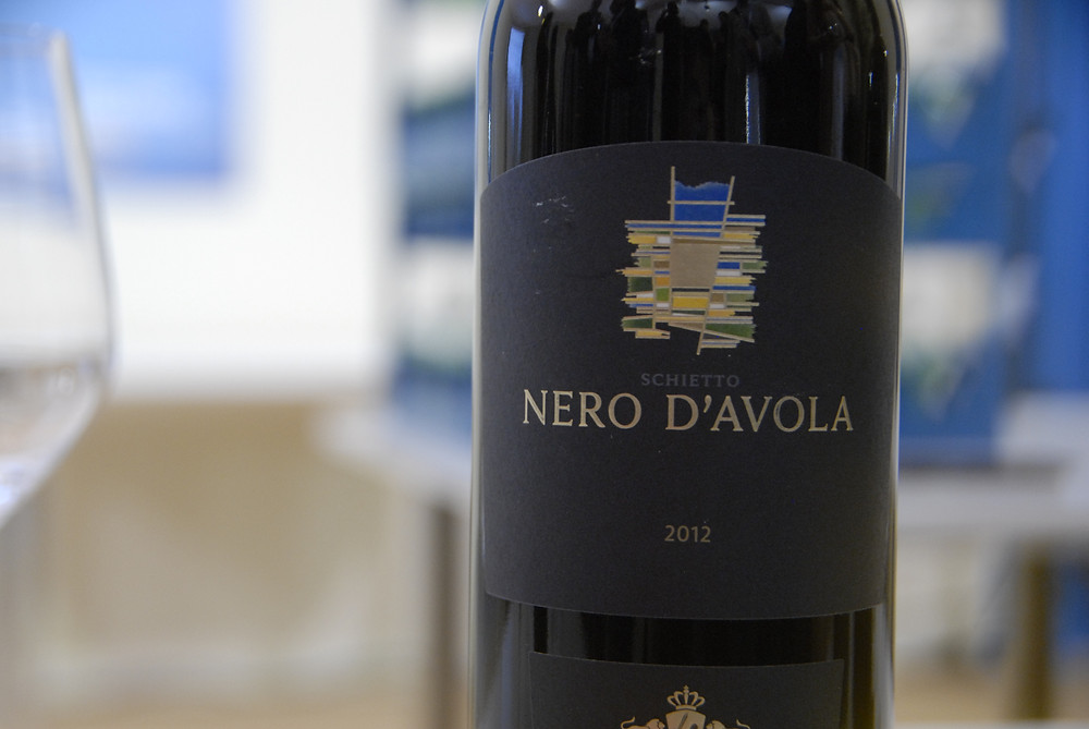 Bottle of Nero d'Avola