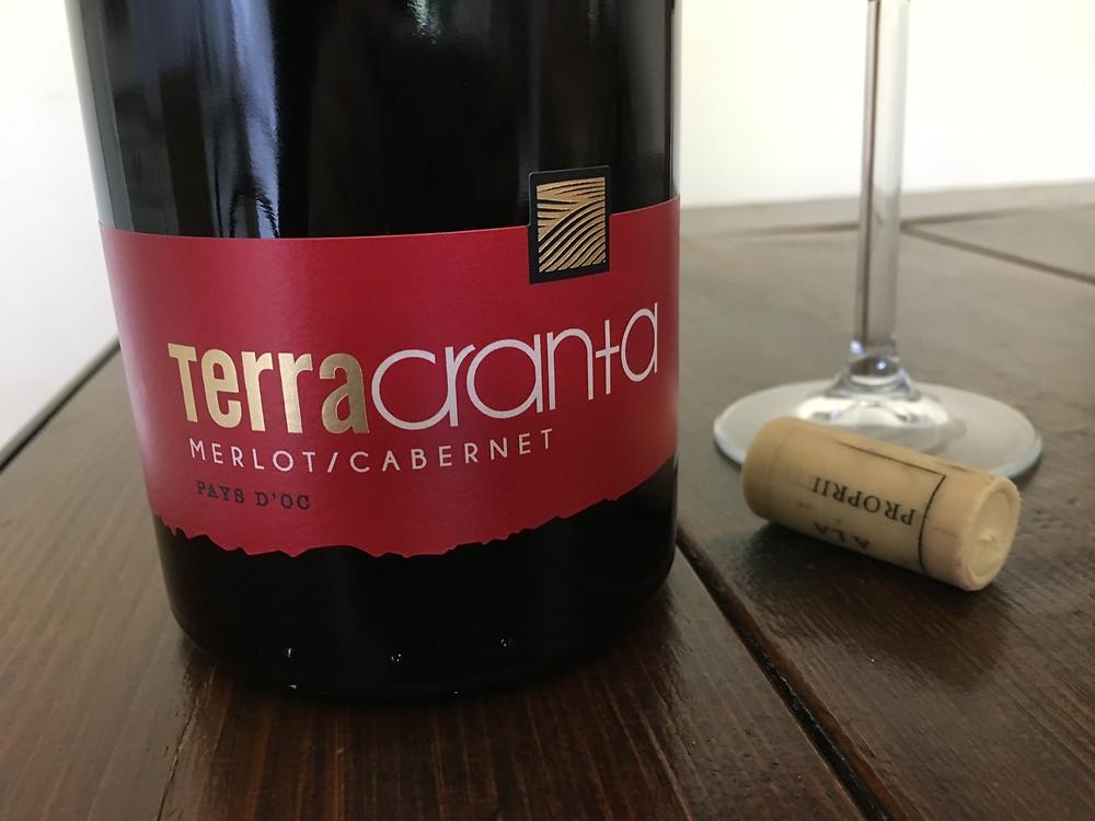 Bottle of Terra Cranta Merlot/Cabernet Pays d'Oc