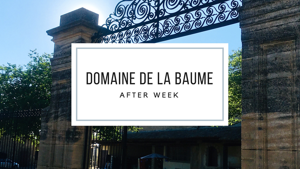 Domaine de la Baume - after week