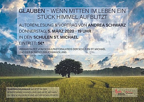 2020 Flyer Autorenlesung Andrea Schwarz.