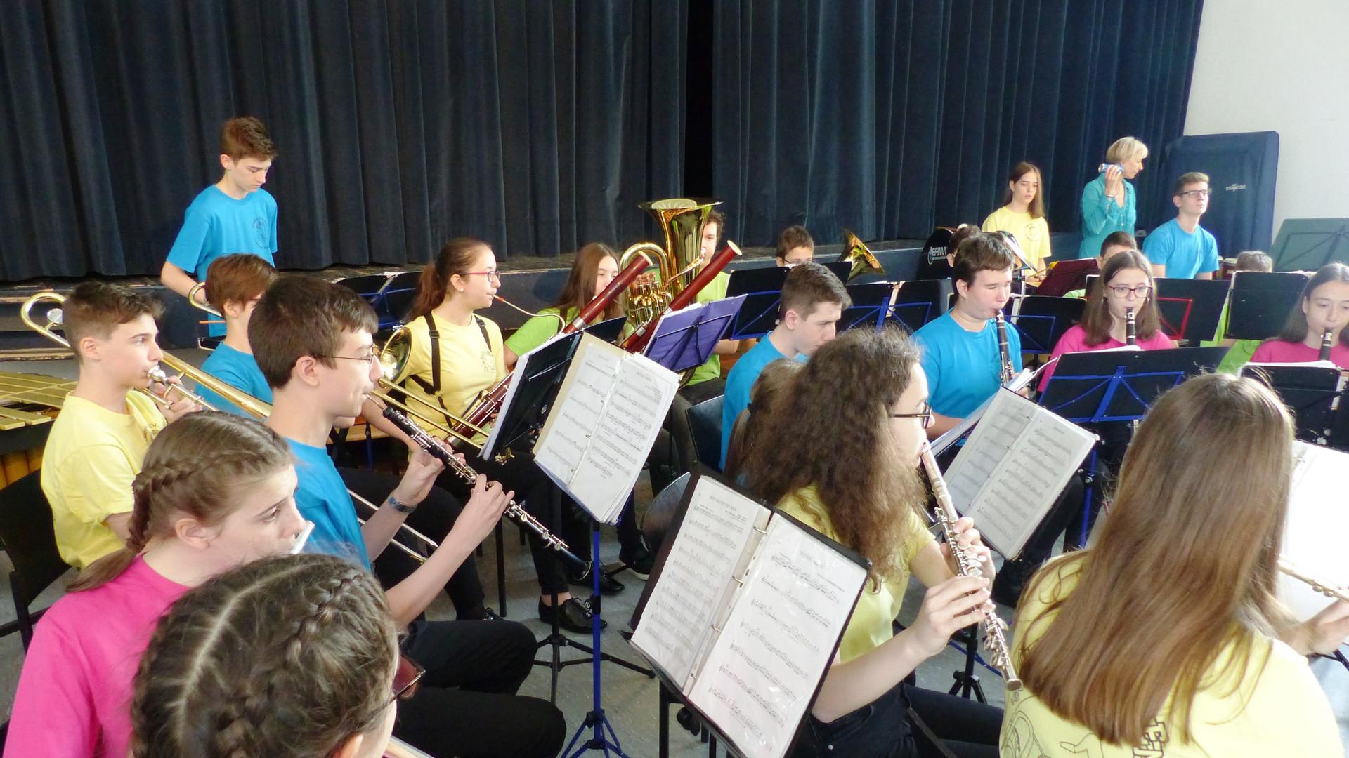 5. Das symphonische Blasorchester in Akt