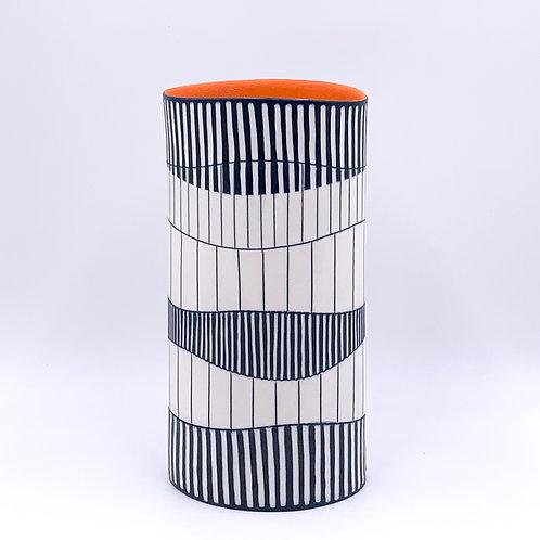 Tall Oval Vase