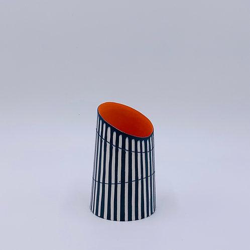 Short Vase with Tilted Rim