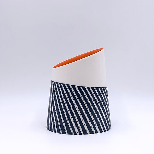 Vessel with Orange Interior