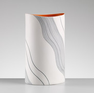 Vase with wave Pattern
