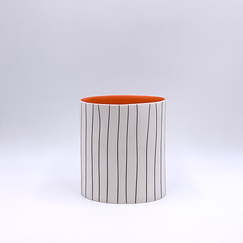 Striped Oval Vessel